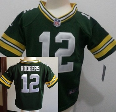 Nike Green Bay Packers #12 Aaron Rodgers Green Toddlers Jersey