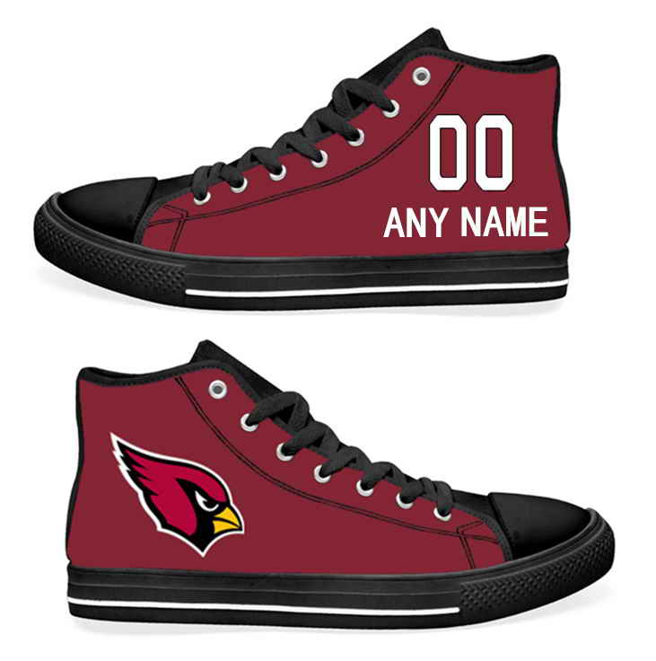 NFL Arizona Cardinals Cardinal Hand Painted Unisex Custom Centre-TOP Canvas Shoes