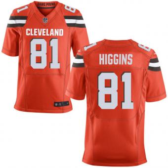 Nike Cleveland Browns #81 Rashard Higgins Orange Stitched Men's NFL Elite Jersey