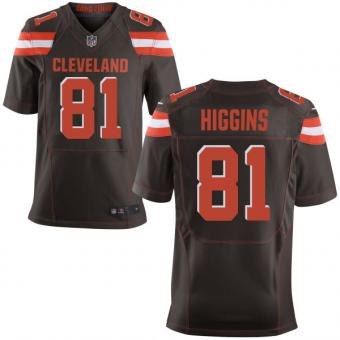 Nike Cleveland Browns #81 Rashard Higgins Brown Stitched Men's NFL Elite Jersey