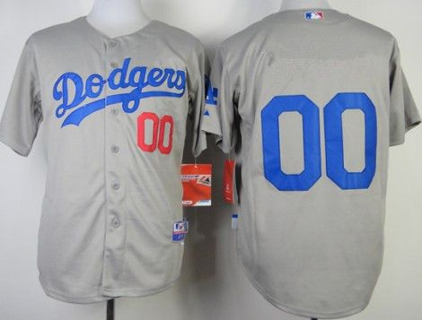 Men's Los Angeles Dodgers Customized 2014 Gray Jersey