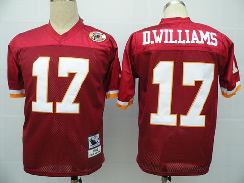 Washington Redskins #17 Doug Williams Red Throwback Jersey