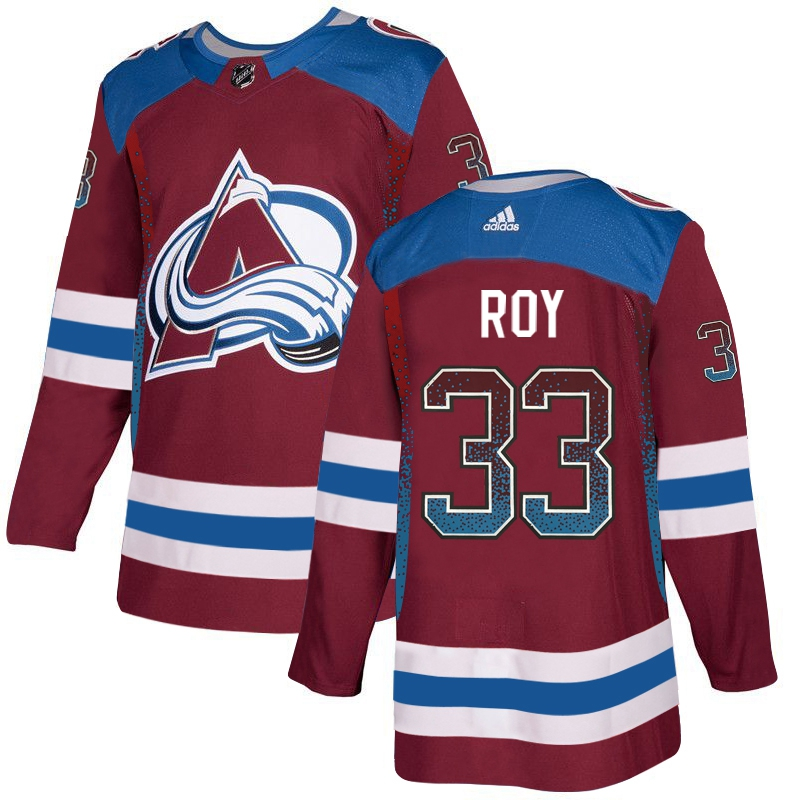 Avalanche 33 Patrick Roy Red Drift Fashion Adidas Jersey