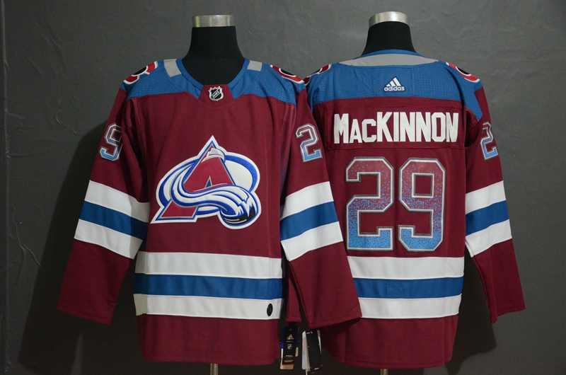 Avalanche 29 Nathan MacKinnon Burgundy Drift Fashion Adidas Jersey