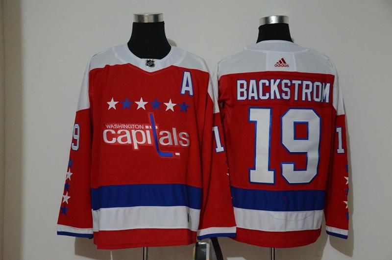 Capitals 19 Nicklas Backstrom Red Alternate Adidas Jersey