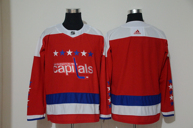 Capitals Blank Red Alternate Adidas Jersey