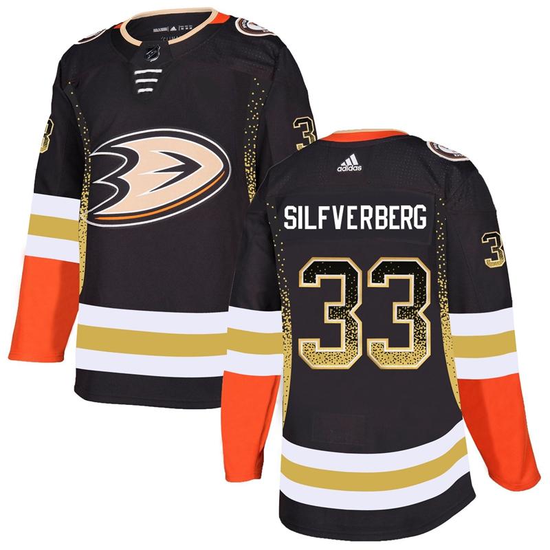 Ducks 33 Jakob Silfverberg Black Drift Fashion Adidas Jersey