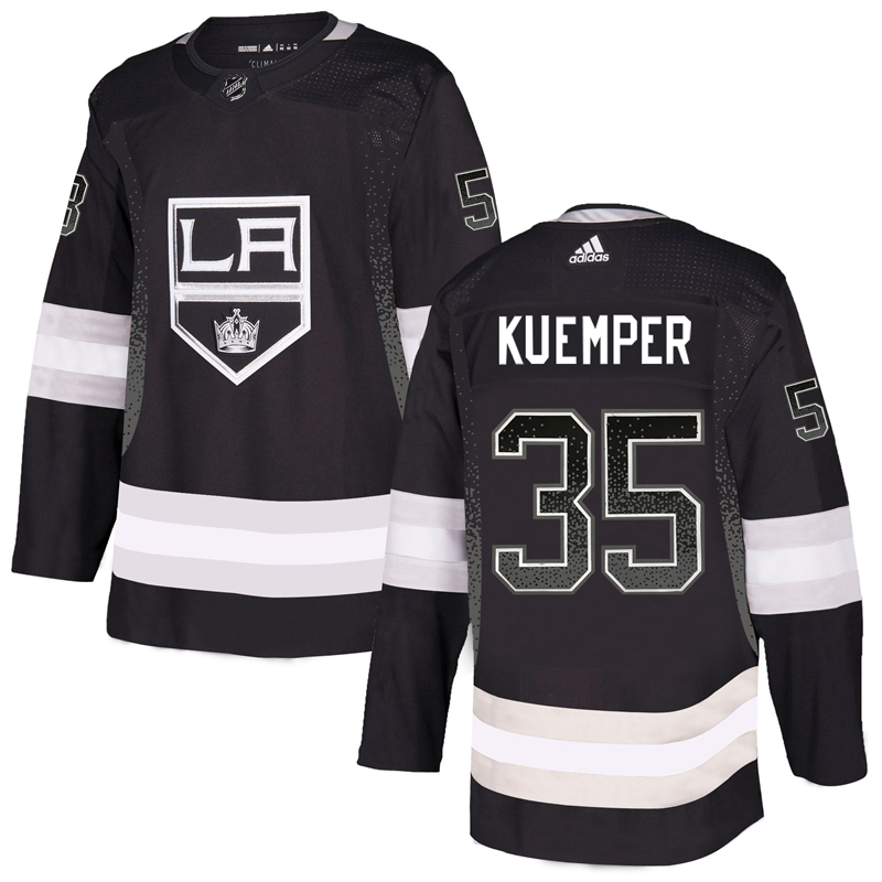 Kings 15 Darcy Kuemper Black Drift Fashion Adidas Jersey