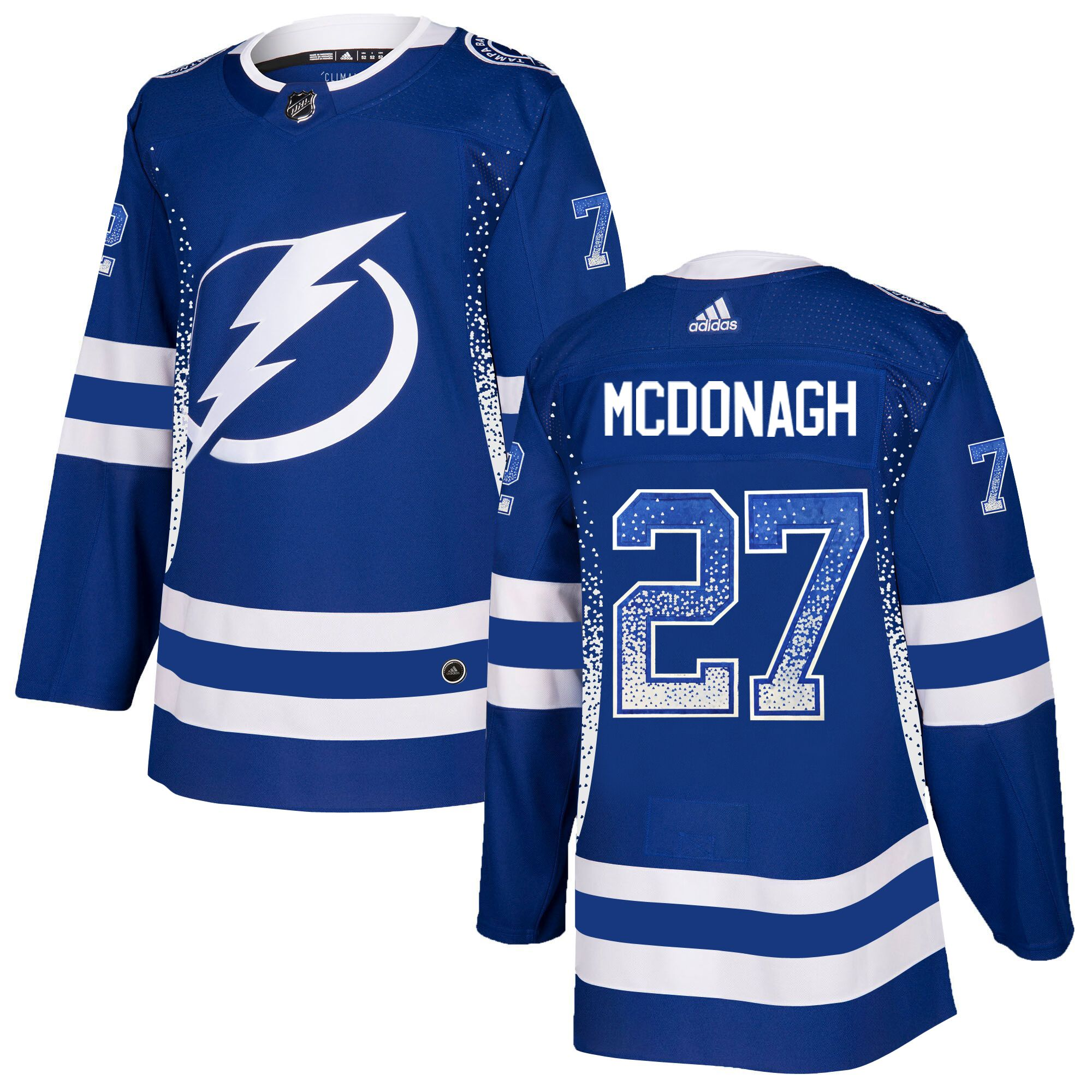 Lightning 27 Ryan McDonagh Blue Drift Fashion Adidas Jersey