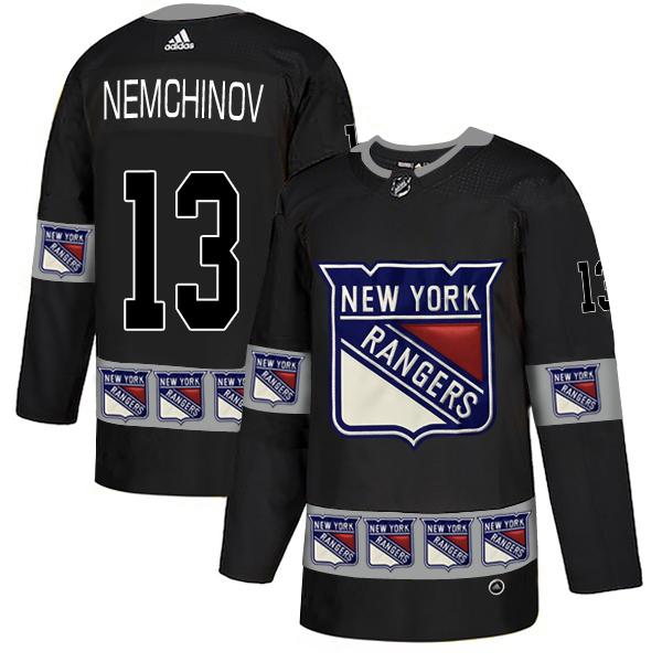 Rangers 13 Sergei Nemchinov Black Team Logos Fashion Adidas Jersey
