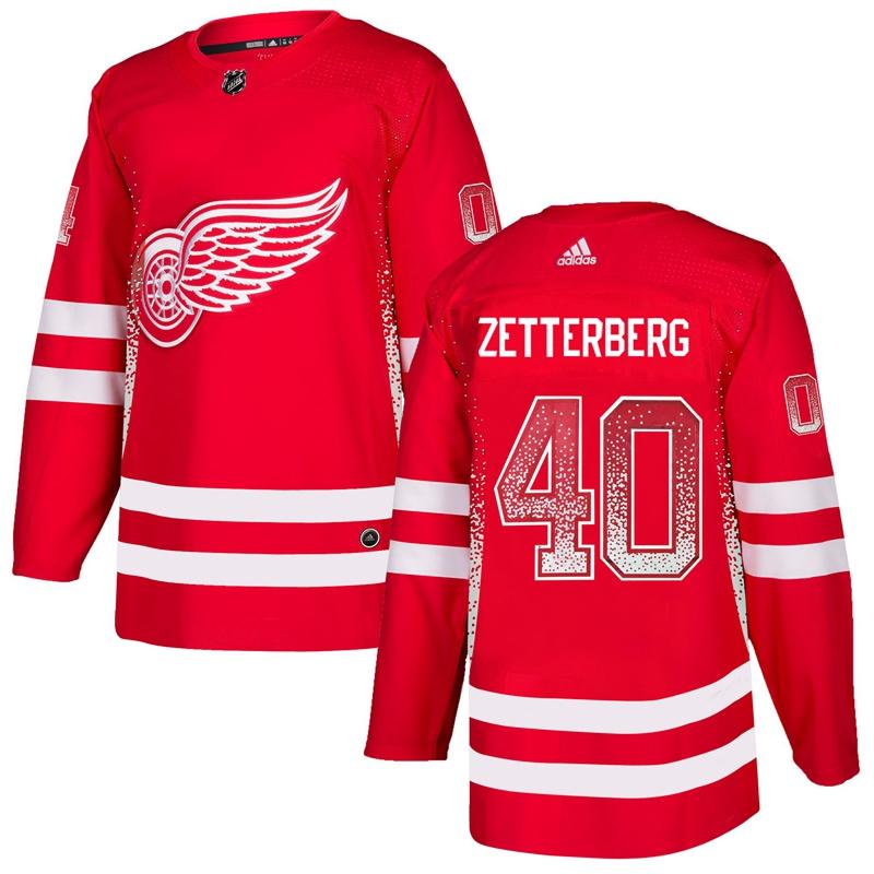 Red Wings 40 Henrik Zetterberg Red Drift Fashion Adidas Jersey