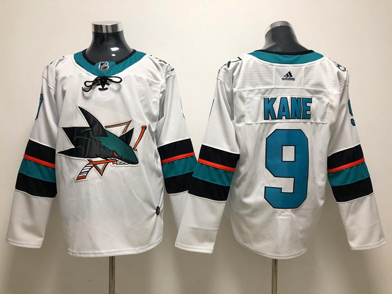 Sharks 9 Evander Kane White Adidas Jersey