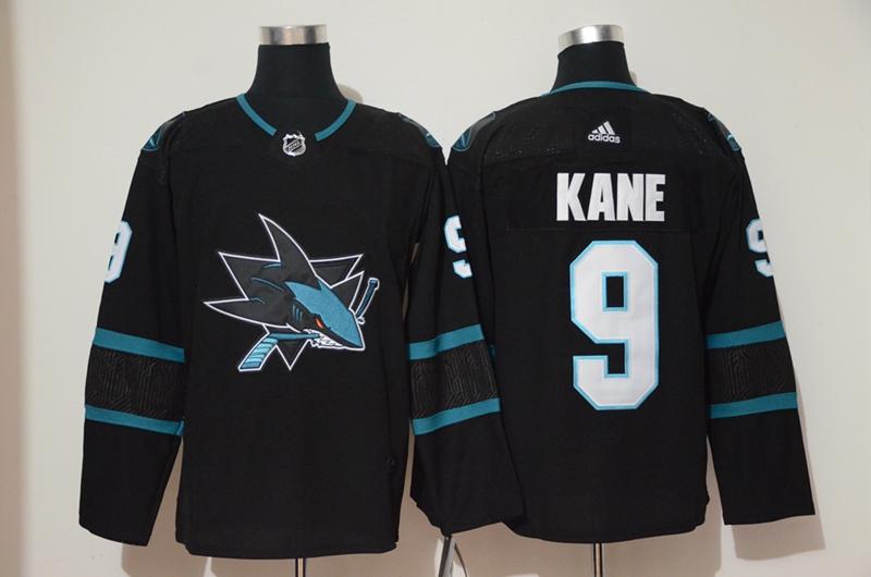 Sharks 9 Evander Kane Black Adidas Jersey