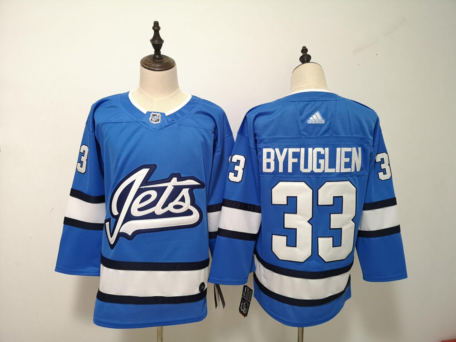 Winnipeg Jets 33 Dustin Byfuglien Blue Alternate Adidas Jersey