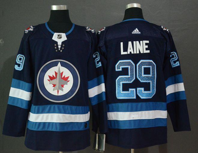 Winnipeg Jets 29 Patrik Laine Navy Drift Fashion Adidas Jersey