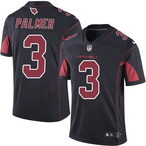 Nike Cardinals #3 Carson Palmer Black Youth Color Rush Limited Jersey