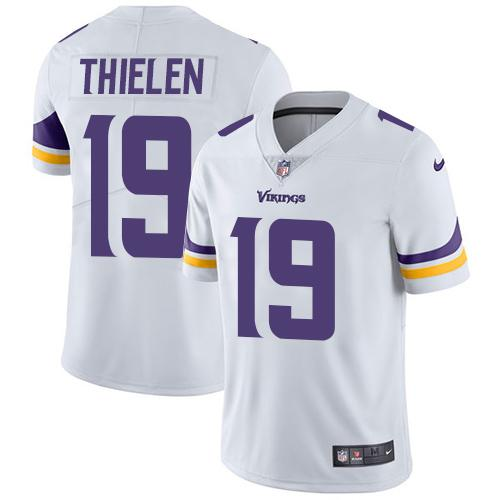 Youth Nike Minnesota Vikings #19 Adam Thielen White Stitched NFL Vapor Untouchable Limited Jersey