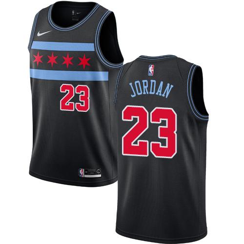 Men's Nike Chicago Bulls #23 Michael Jordan Bulls City Edition Authentic Black NBA Jersey