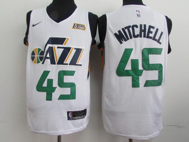 Jazz #45 Donovan Mitchell White Nike Swingman Jersey