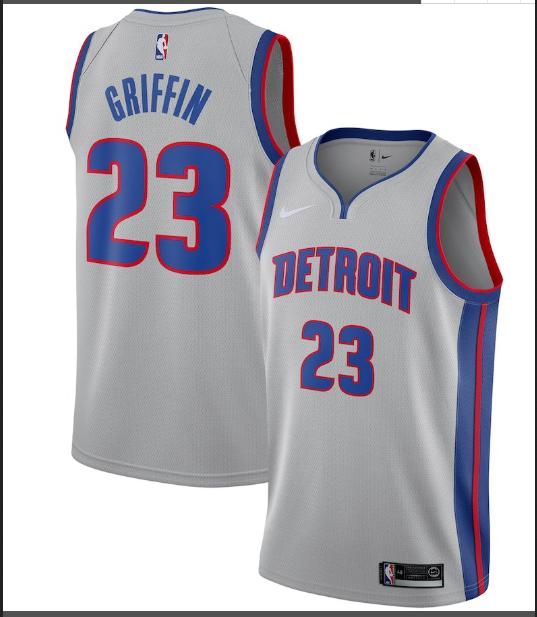 Nike Detroit Pistons #23 Blake GriffinSilver NBA Swingman Statement Edition Jersey