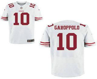 Men's San Francisco 49ers #10 Jimmy Garoppolo Scarlet White Stitched NFL Nike Elite Jersey