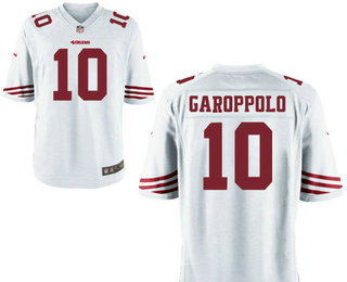 Men's San Francisco 49ers #10 Jimmy Garoppolo Scarlet White Stitched NFL Nike Game Jersey