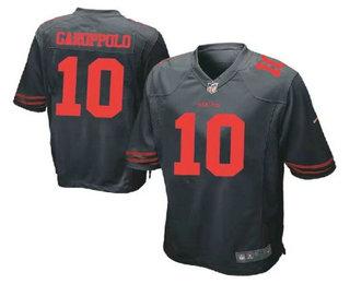 Men's San Francisco 49ers #10 Jimmy Garoppolo Scarlet Black Stitched NFL Nike Game Jersey