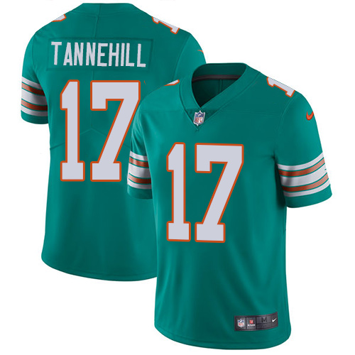 Nike Dolphins 17 Ryan Tannehill Aqua Throwback Youth Vapor Untouchable Player Limited Jersey