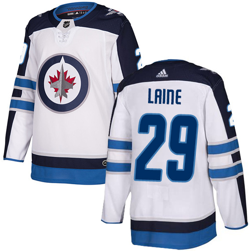 Adidas Jets #29 Patrik Laine White Authentic Stitched NHL Jersey