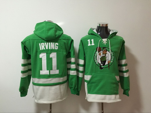 Celtics 11 Kyrie Irving Green All Stitched Hoodie NBA Sweatshirt