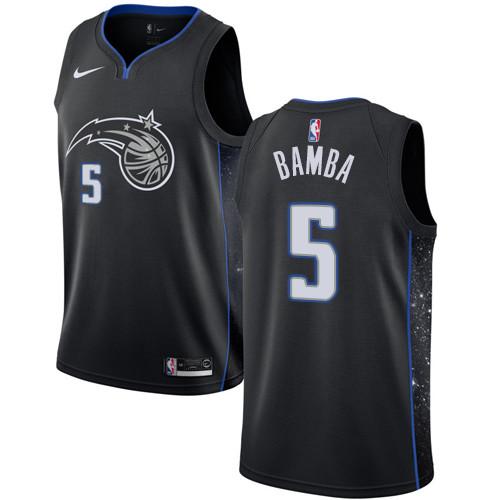 Nike Magic #5 Mohamed Bamba Black NBA Swingman City Edition 2018-19 Jersey