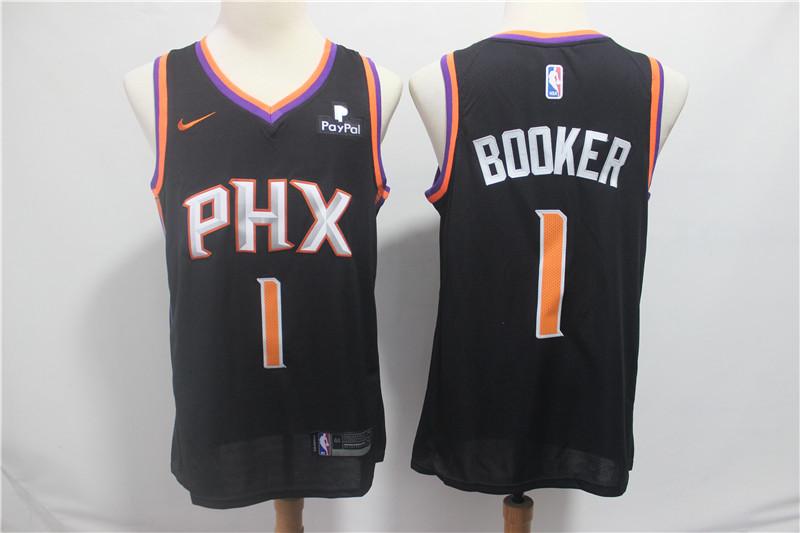 Suns #1 Devin Booker Black Nike Swingman Jersey