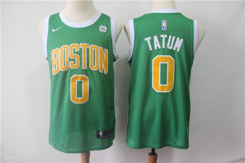 Celtics #0 Jayson Tatum Green 2018-19 Earned Edition Nike Swingman Jersey
