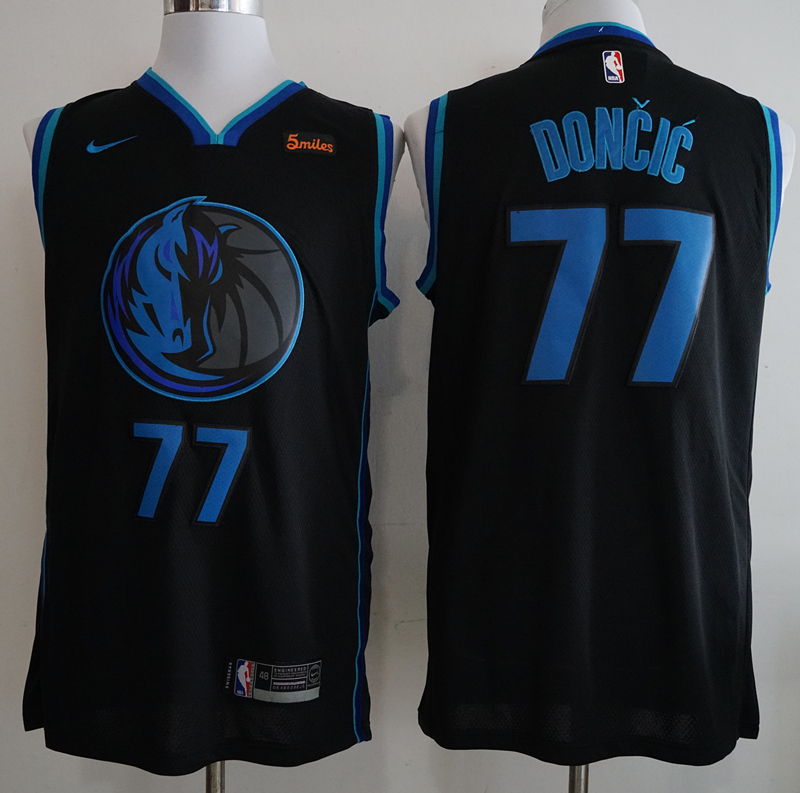 Mavericks #77 Luka Doncic Black 2018-19 City Edition Nike Swingman Jersey