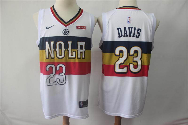 Pelicans #23 Anthony Davis White 2018-19 Earned Edition Nike Swingman Jersey