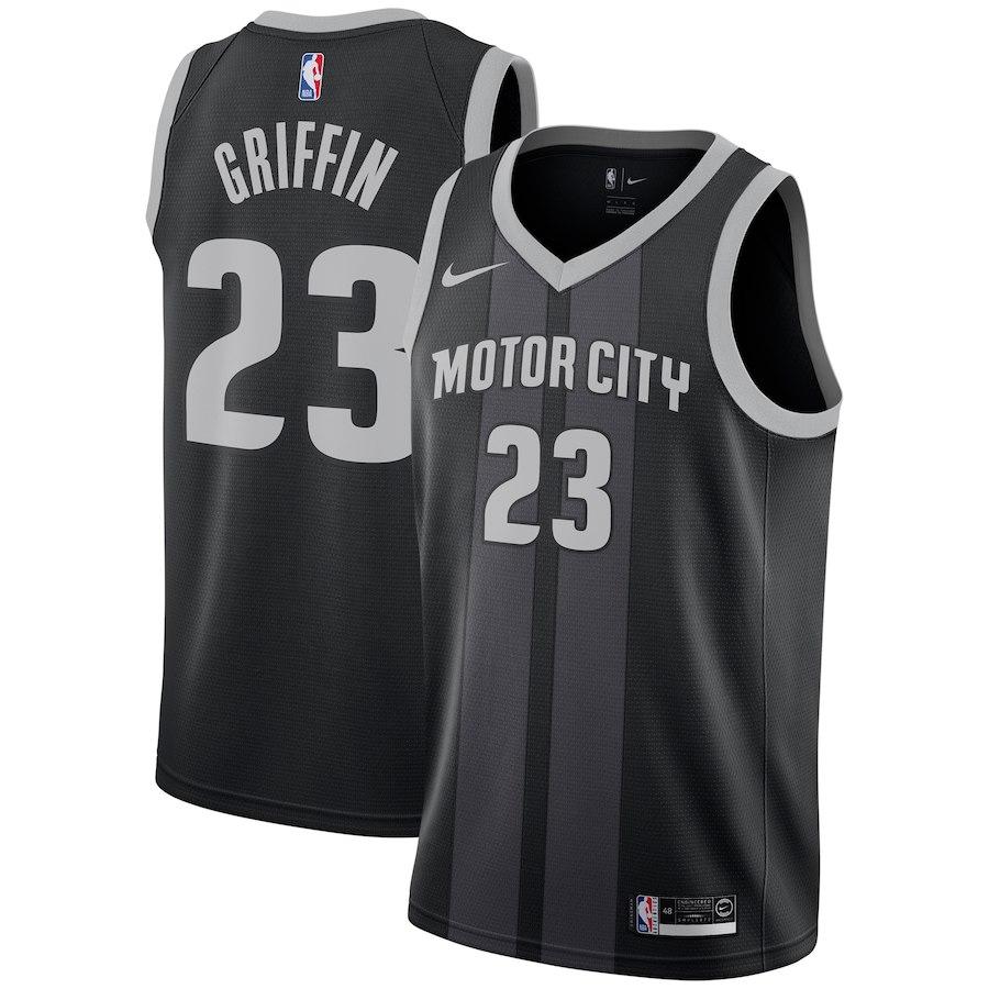 Pistons #23 Blake Griffin Black 2018-19 City Edition Nike Swingman Jerse