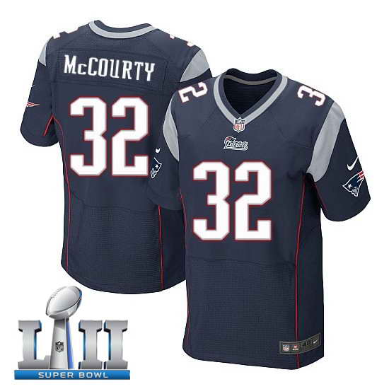 Nike New England Patriots #32 Devin McCourty Stitched Navy 2018 Super Bowl LII Elite Jersey