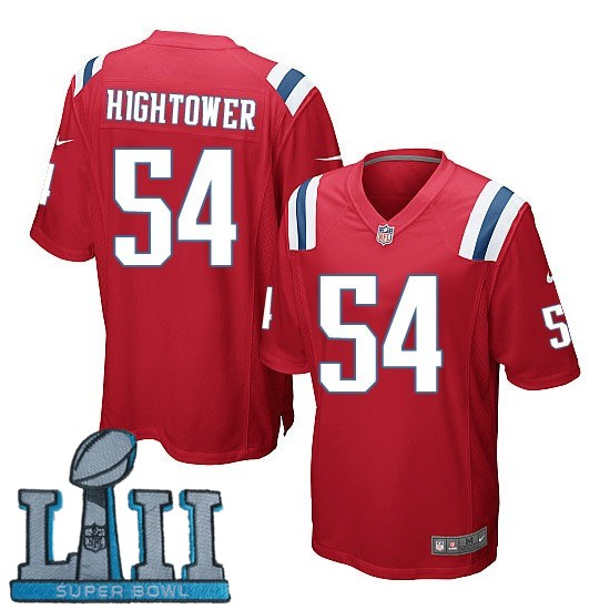 Youth Nike New England Patriots #54 Dont'a Hightower Stitched Red 2018 Super Bowl LII Game Jersey
