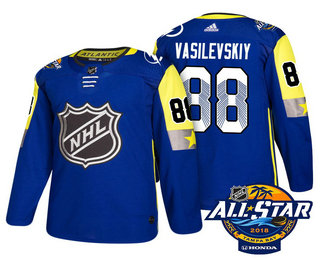 Men's Tampa Bay Lightning #88 Andrei Vasilevskiy Blue 2018 NHL All-Star Stitched Ice Hockey Jersey