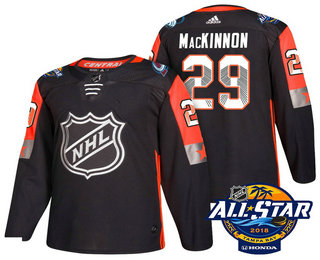 Men's Colorado Avalanche #29 Nathan MacKinnon Black 2018 NHL All-Star Stitched Ice Hockey Jersey
