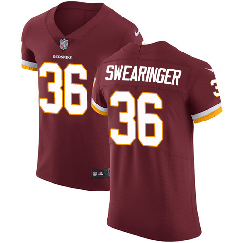 Nike Redskins Men's #36 D.J. Swearinger Burgundy Stitched Red Team Color NFL Vapor Untouchable Elite Jersey