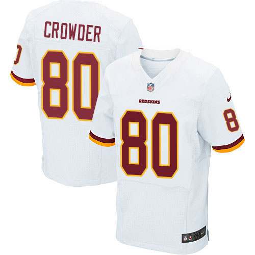 Nike Redskins Men's #80 Jamison Crowder Stitched White NFL Elite Jersey