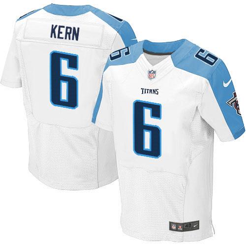 Nike Titans #6 Brett Kern Stitched White Men's NFL Elite Jersey