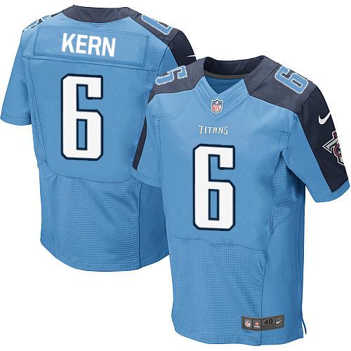 Nike Titans #6 Brett Kern Stitched Light Blue Men's NFL Elite Jersey