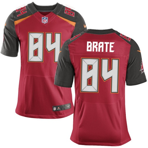 Nike Buccaneers Men's #84 Cameron Brate Stitched Red Team Color NFL New Elite Jersey
