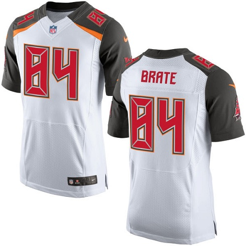 Nike Buccaneers Men's #84 Cameron Brate Stitched White NFL New Elite Jersey