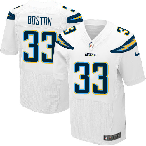 Nike Chargers Men's #33 Tre Boston Stitched White NFL New Elite Jersey