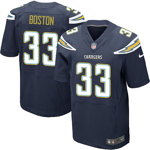 Nike Chargers Men's #33 Tre Boston Stitched Navy Blue Team Color NFL New Elite Jersey