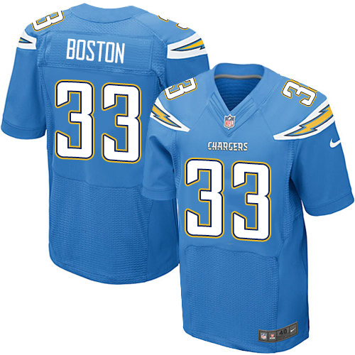 Nike Chargers Men's #33 Tre Boston Stitched Electric Blue Alternate NFL New Elite Jersey
