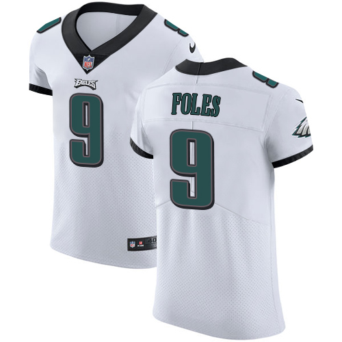 Nike Eagles Men's #9 Nick Foles Stitched White NFL Vapor Untouchable Elite Jersey